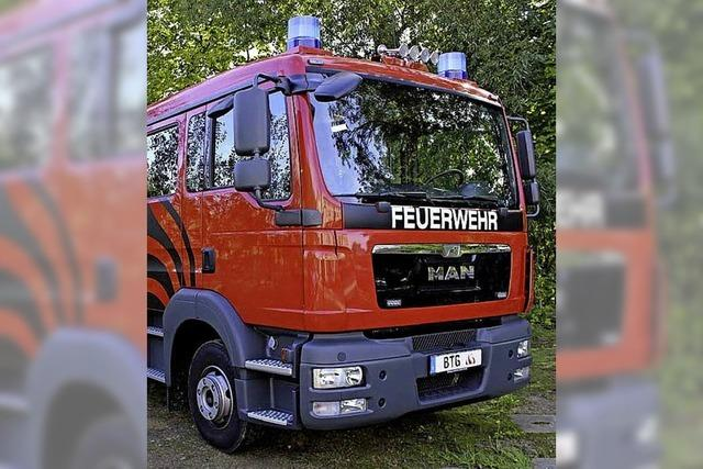 Neues Löschfahrzeug für Feuerwehr