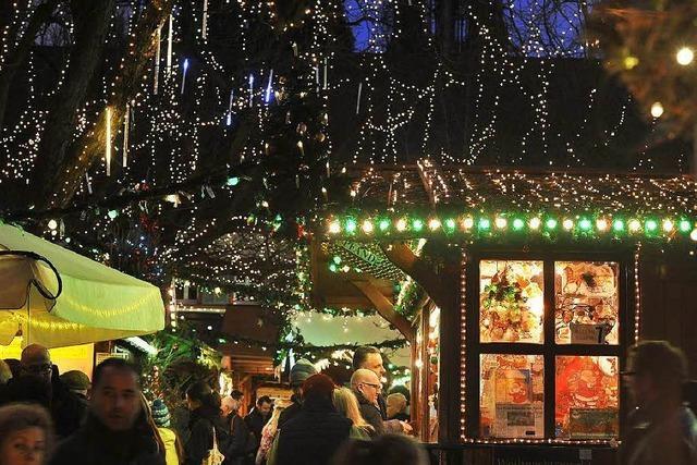 Weihnachtsmarkt: Viele Besucher von jenseits der Alpen
