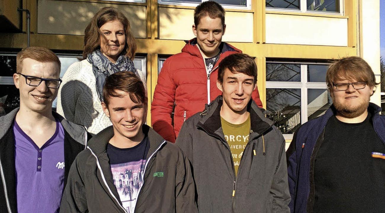 Ausbildungsbotschafter besuchen die Gewerbeschule.   | Foto: Gewerbeschule