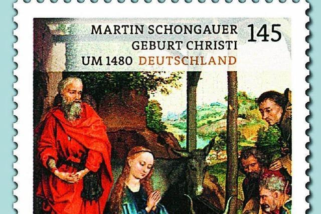 Briefmarke zeigt Werk des Breisacher Künstlers Martin Schongauer