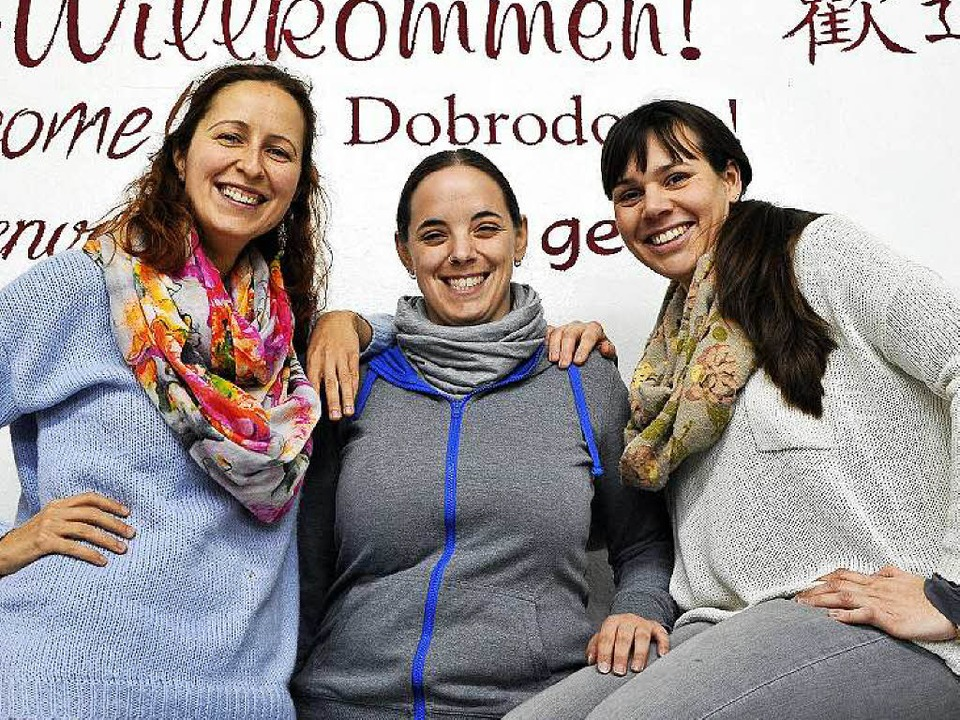 Die Organisatorinnen Slavica Markovic, Anika Kohler und Anna Veeser (von links)  | Foto: Thomas Kunz