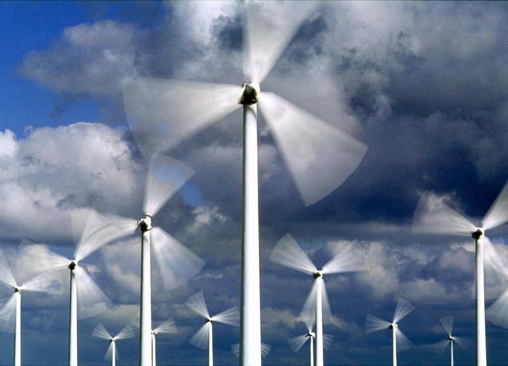 Wenn's tüchtig bläst, deckt alle...0 Prozent des deutschen Strombedarfs.   | Foto: dpa/fotolia.com