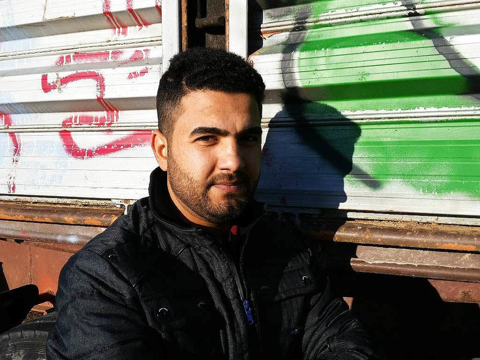 Omar Yunis (25) ist aus dem Irak nach ...iese Woche wird er das Heim verlassen.    Foto: David Weigend