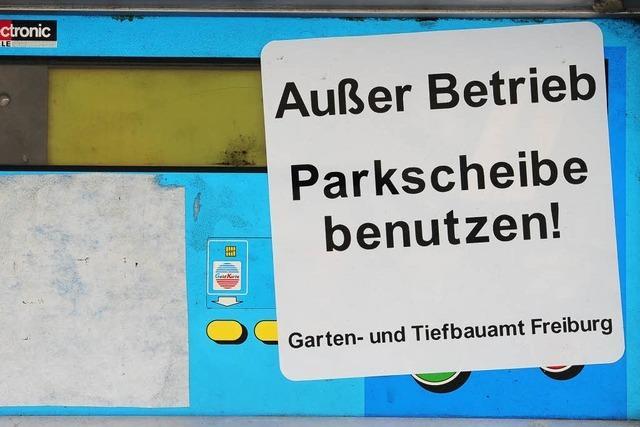 Freiburg: Parkautomaten werden an Silvester verrammelt