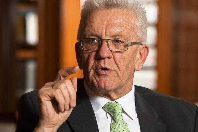 Kretschmann dankt Badenern für Flüchtlingshilfe
