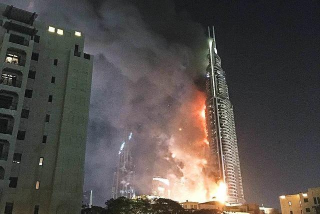 Wolkenkratzer-Brand in Dubai