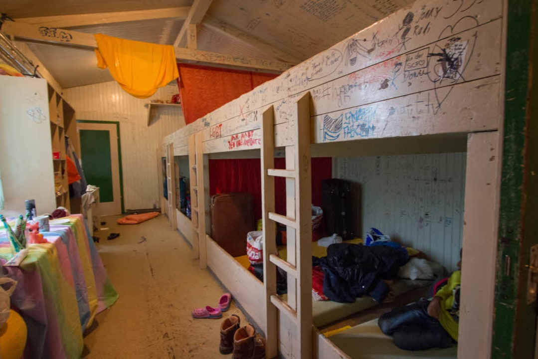 Kaum Privatsphäre im Matratzenlager  | Foto: Konstantin Goerlich