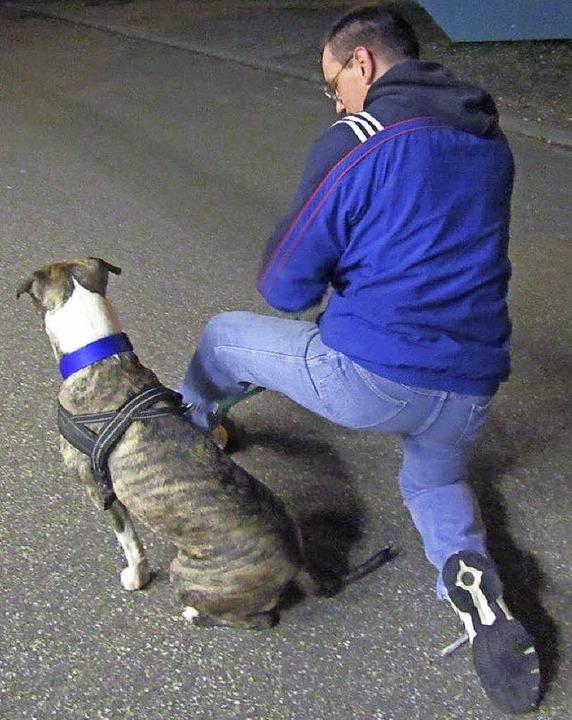 Thorsten Maurer mit seinem Mittwochshund Jesper  | Foto: privat