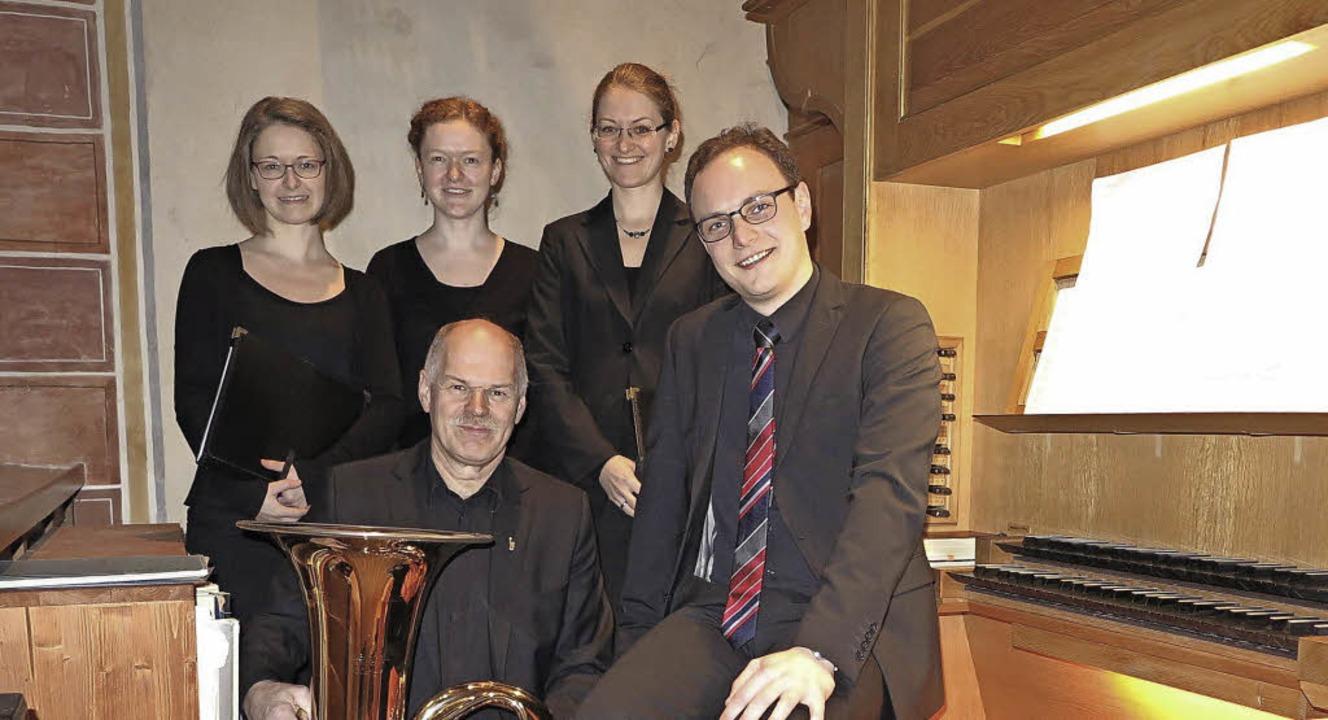 Nach einem eindrucksvollen Konzert in ...nks) mit Klemens Karle und Marius Mack  | Foto: Dorothee Philipp