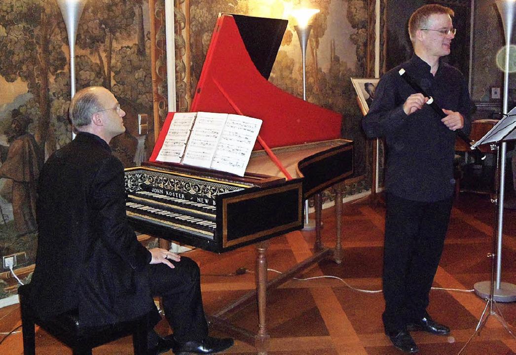 Der Flötist Henrik Wiese (rechts) und ... überzeugten mit virtuosen Vorträgen.     Foto: Bianca Flier