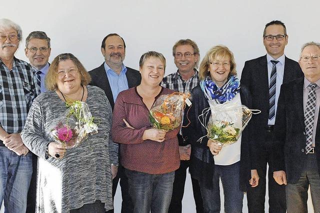 Sechs Beamte seit 40 Jahren im Dienst