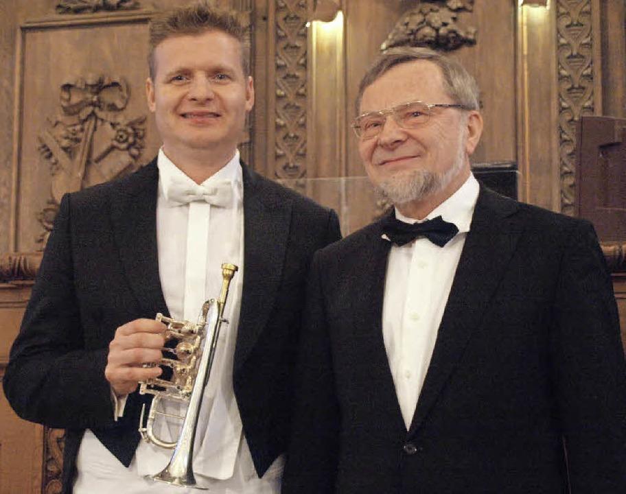 Trompeter Wim Van Hasselt und Organist...Blasien ein grandioses Neujahrskonzert    Foto: Karin Stöckl-Steinebrunner