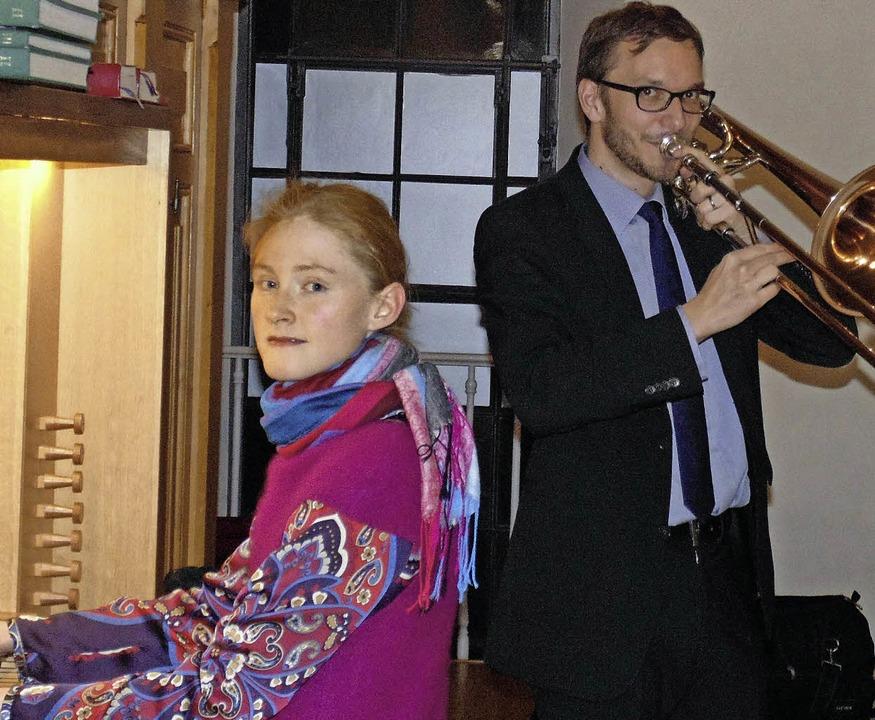 Vanessa Werner und Jürgen Thun beim Ne...zert in der evangelischen Stadtkirche   | Foto: Michael Gottstein