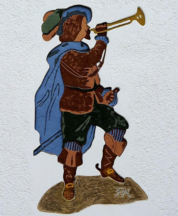 Trompeter an einer Hauswand in Bad Säckingen  | Foto: Karl Braun