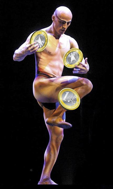Jonglieren mit Euros – auch das ist Zirkus.  | Foto: dpa