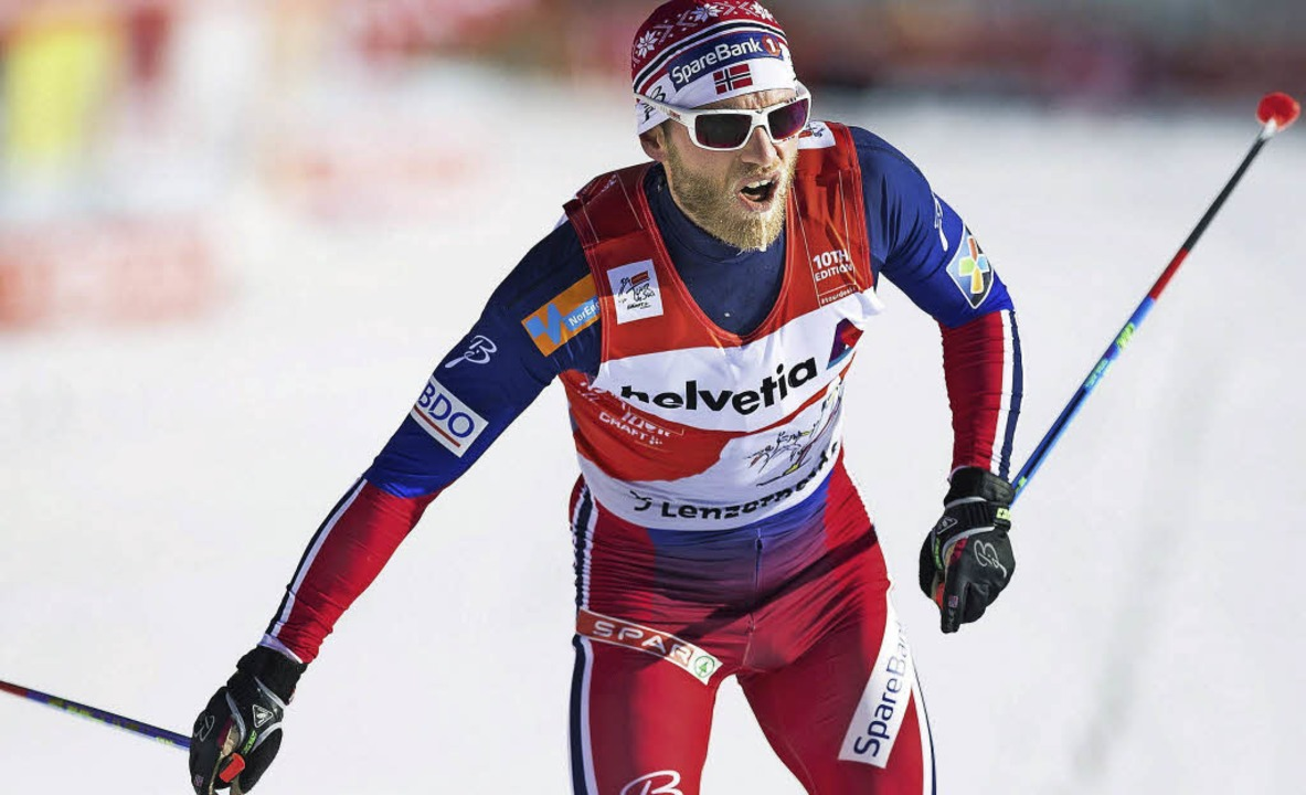 Topfavorit  Martin Johnsrud Sundby aus...kurrenz bei der Tour de Ski sprachlos.  | Foto: dpa