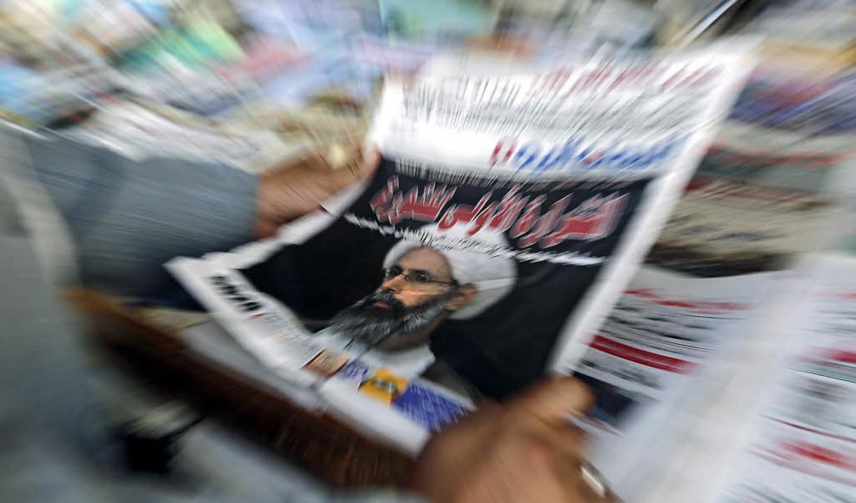 Auch  im Jemen machte die Hinrichtung ...Geistlichen Nimr al-Nimr Schlagzeilen     Foto: DPA