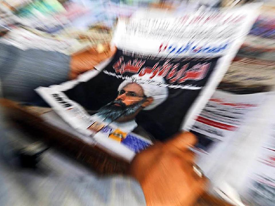 In der gesamten arabischen Welt &#8211... Geistlichen Nimr al-Nimr Schlagzeilen    Foto: dpa
