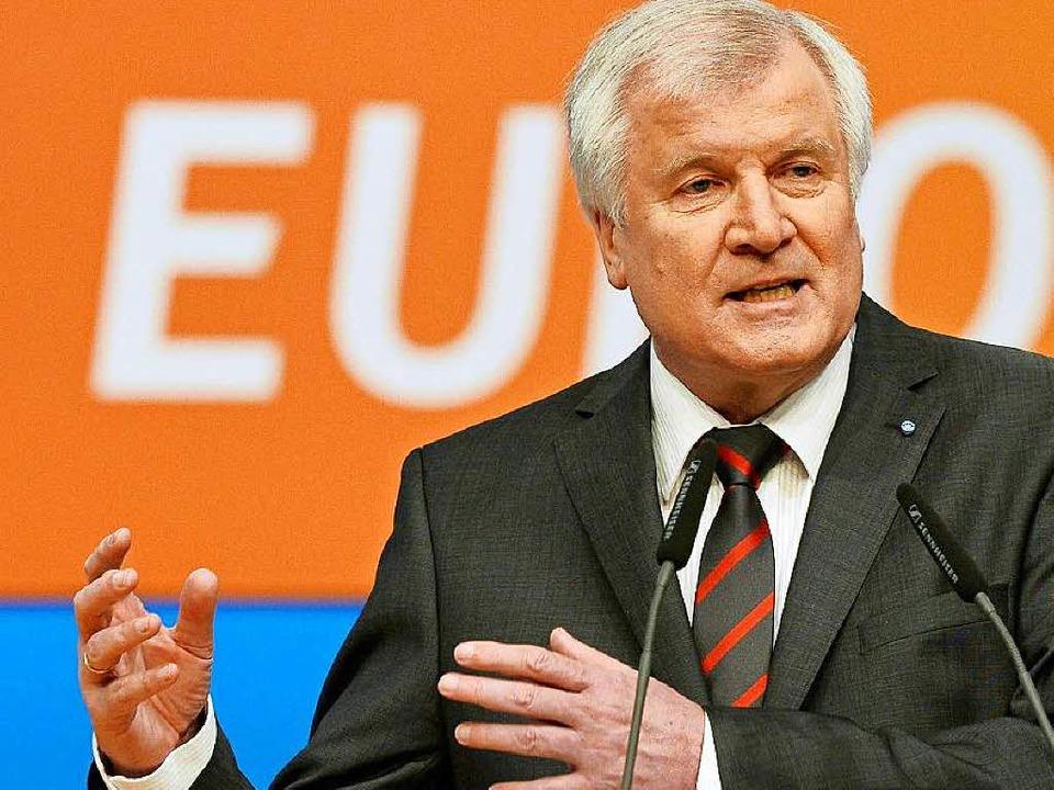 Horst Seehofer, CSU    Foto: AFP