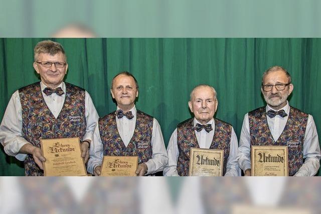 MGV Münchweier ehrt Jubilare