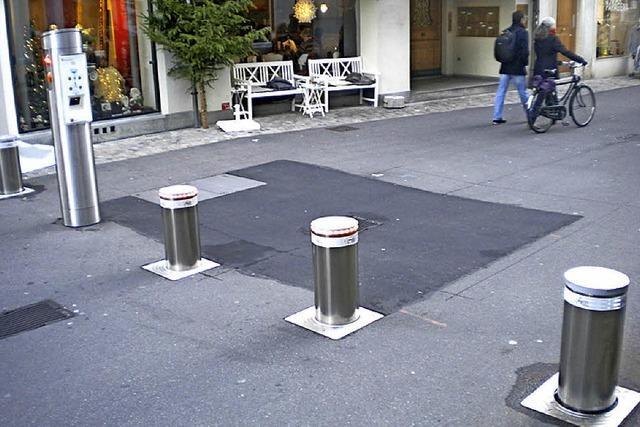 Basel testet versenkbare Poller