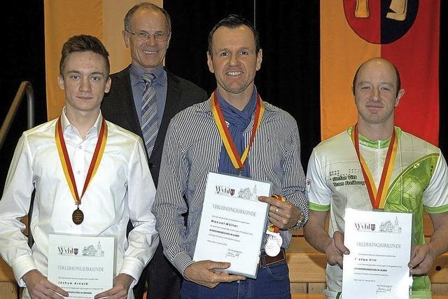 Medaillen für erfolgreiche Sportler