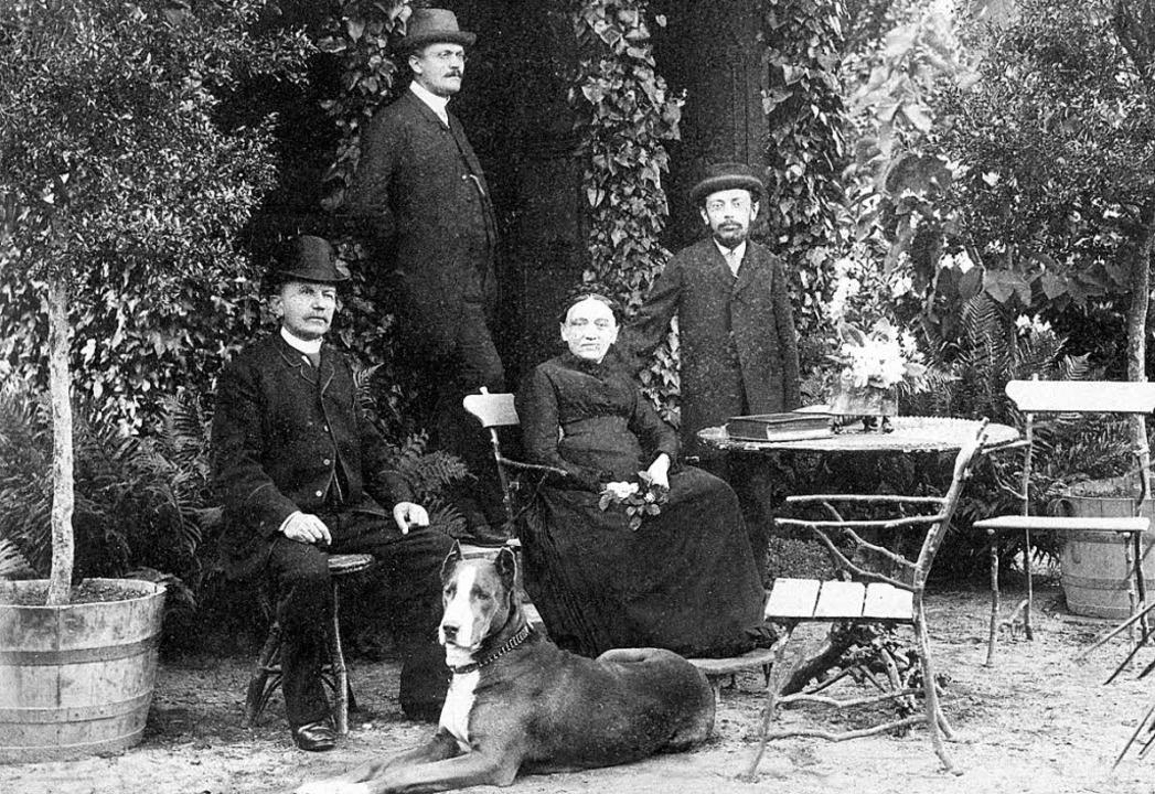 Ein altes Staufener Bürgergeschlecht: ...en Eltern und Bruder Rudolf  um 1890.     Foto: Stadtarchiv