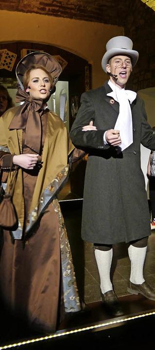 Immer gerne am Lästern: Veef und Andres im Narrenkeller der Althistorischen.    Foto: Heidi Ast