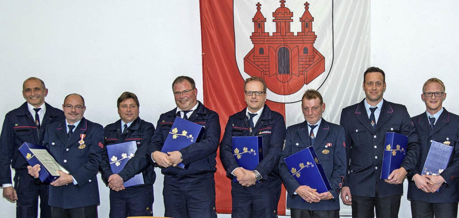 Für langjährigen Dienst ehrte die Feuerwehr Ettenheim Aktive.     Foto: olaf michael