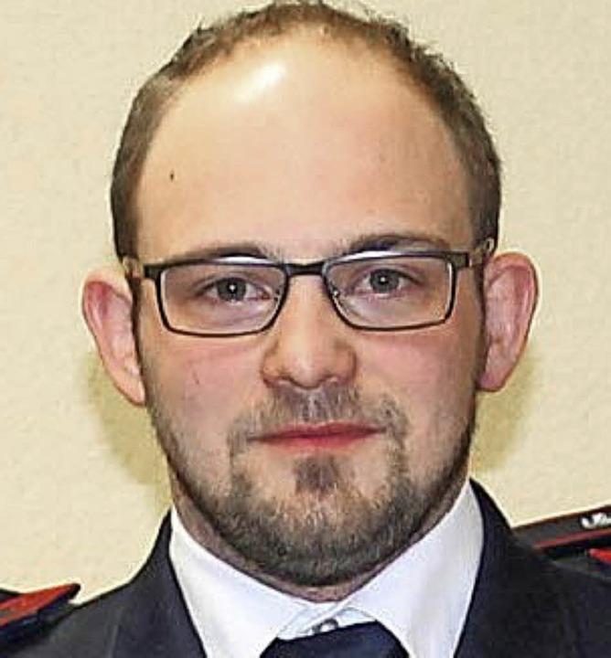 Dominik Kässinger ist neuer Abteilungskommandant.    Foto: Hans Spengler
