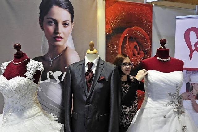 Romatik steht bei der Hochzeitsmesse hoch im Kurs