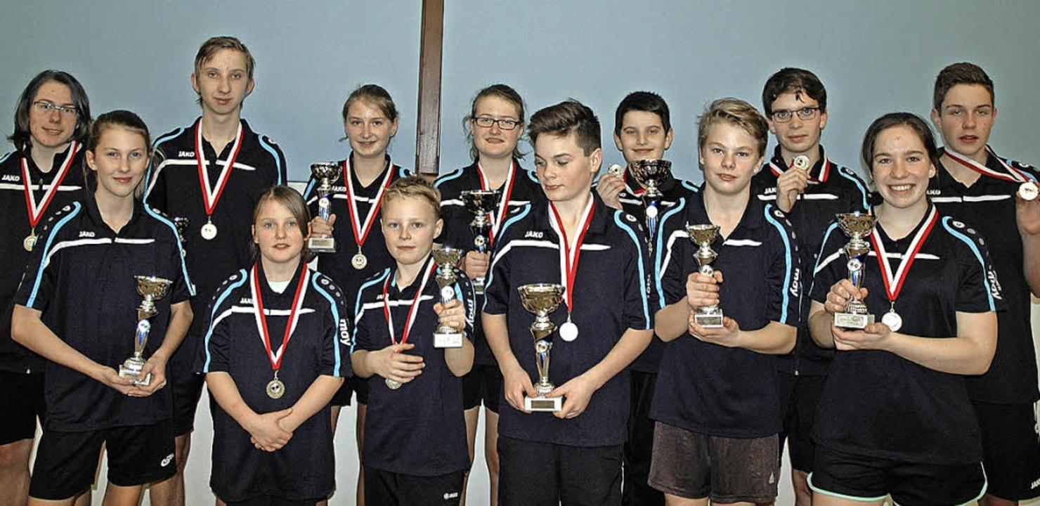 Die Sieger und Platzierten der Jugendm..., Paula Kümper und Niklas Baumgartner   | Foto: Christiane Sahli