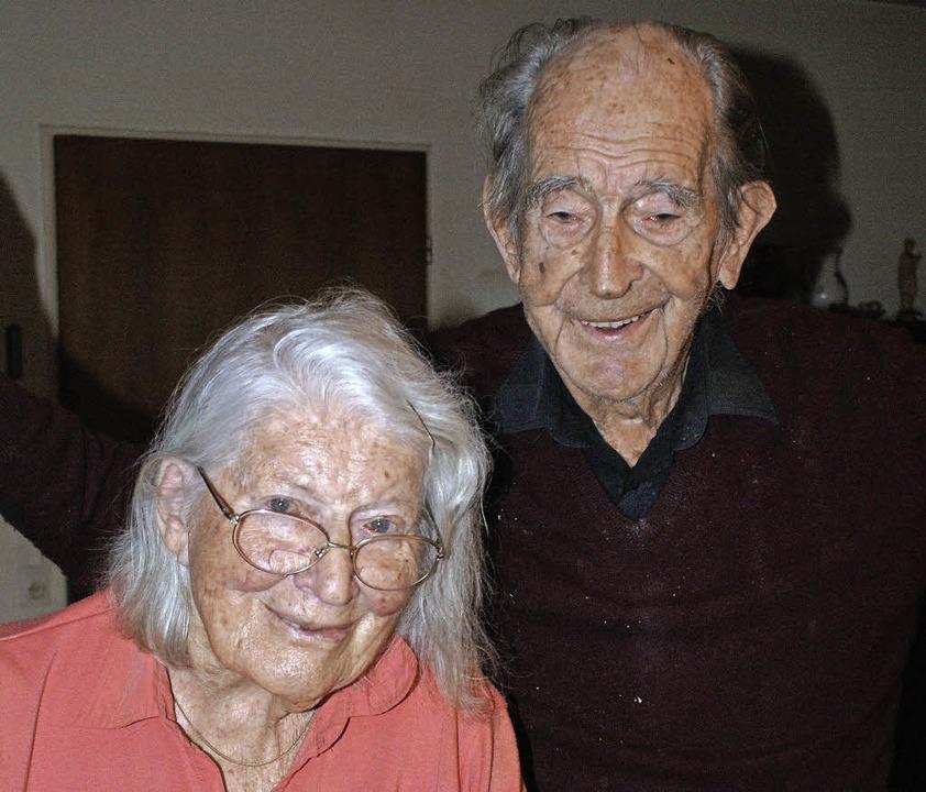 Sind seit 1956  verheiratet: Waltraud und Helmut Faller     Foto: Werner Probst