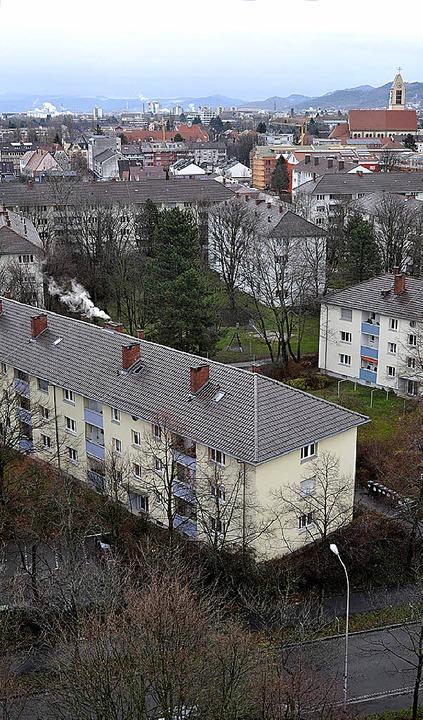 Blick auf Haslach-Südost     Foto: Kunz