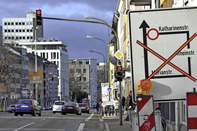 Neue Baustelle auf Freiburgs Friedrichring - Stauwarnung