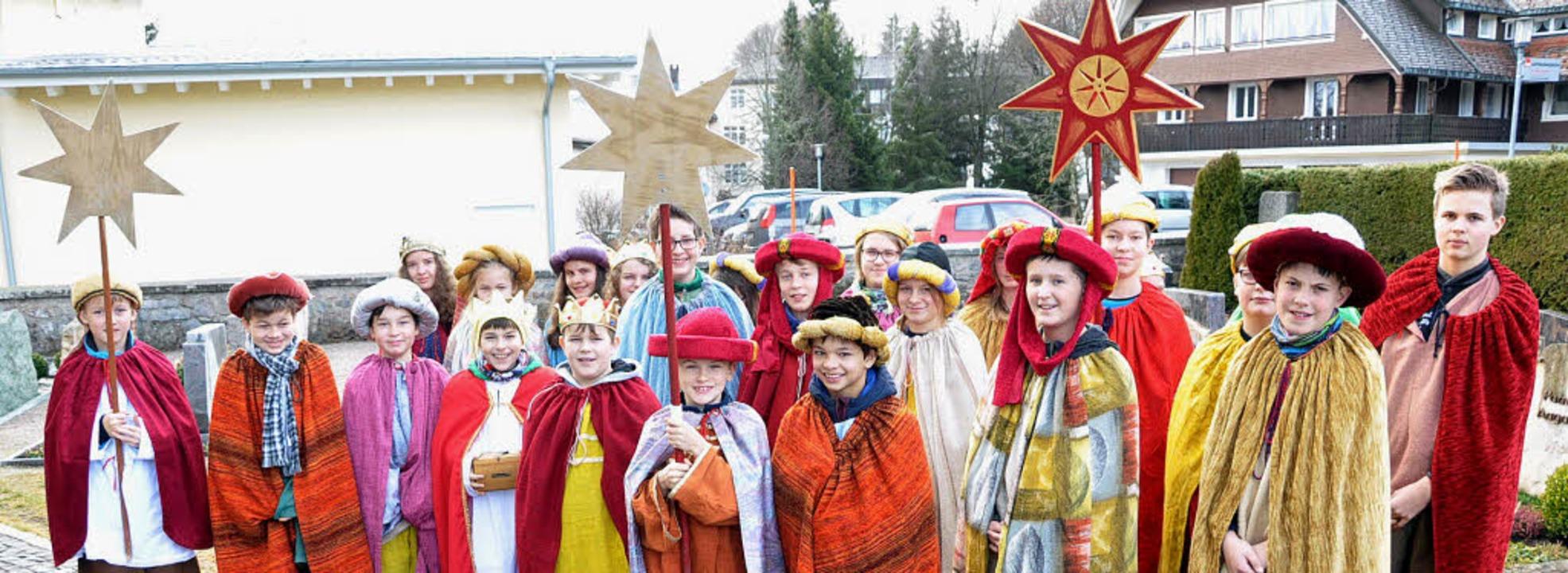 Anlässlich des Dreikönigstags sammelte...henschwand Spenden für Kinder in Not.   | Foto: Pichler