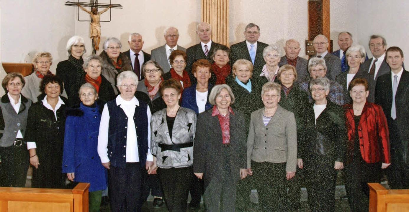 Der Kirchenchor Schwörstadt-Öflingen steht vor seiner Auflösung.  | Foto: Repro: Hans Loritz