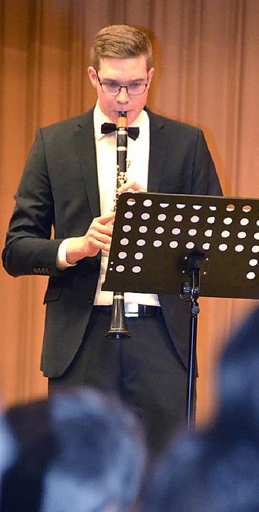 Joachim Wehrle während seines Auftritts beim Neujahrsempfang  | Foto: Michael Krug