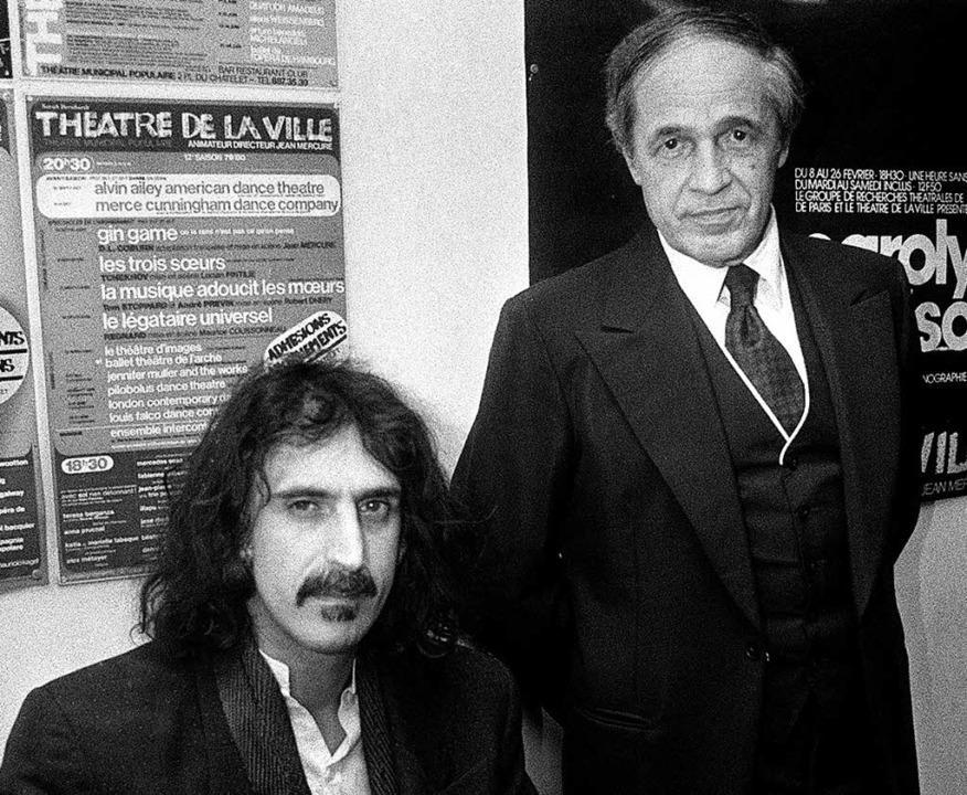 Mit Frank Zappa (li.) 1984 in Paris     Foto: dpa/afp