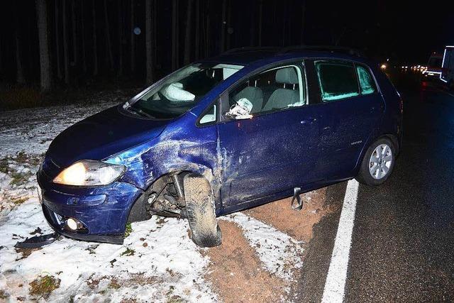 Drei Verletzte bei zwei Unfällen