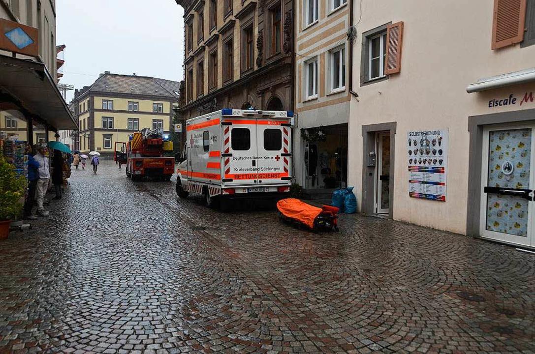 Einsatz in der Bad Säckinger Innenstadt  | Foto: Felix Held