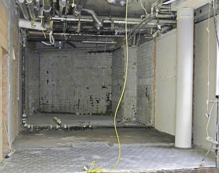 Der Sanitärbereich für Menschen mit Be...rme wird bis September 2016 umgebaut.   | Foto: Christian Engel