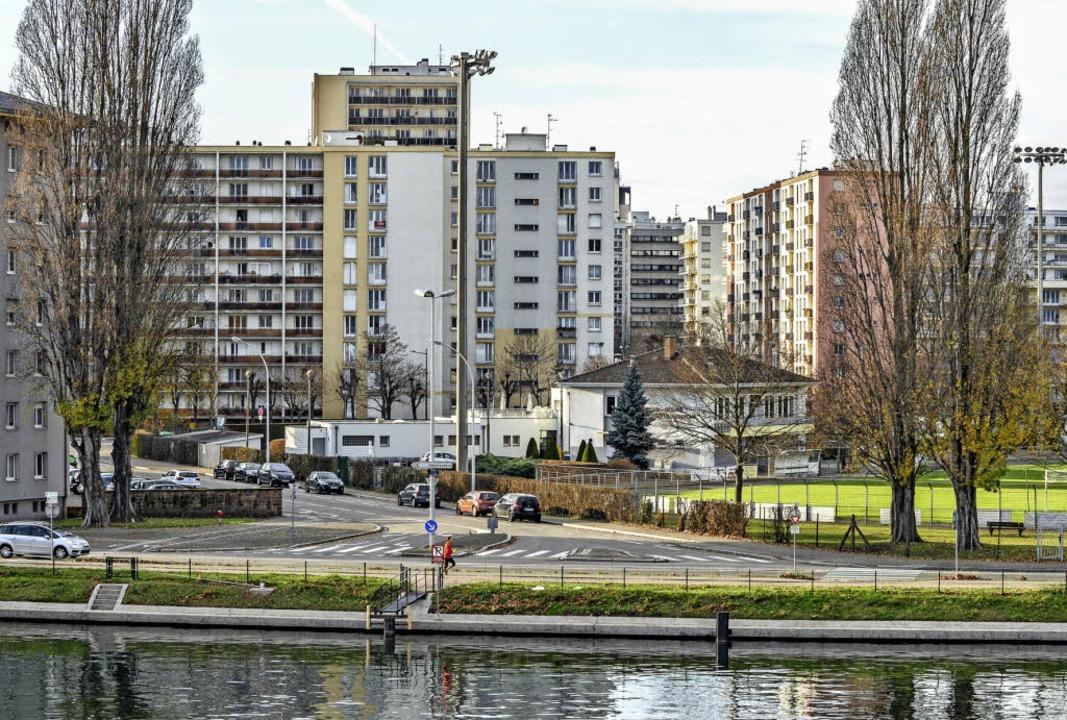 Auf dem Reißbrett geplant und inzwisch...ftig: die Cité Rotterdam in Straßburg.    Foto: Teli
