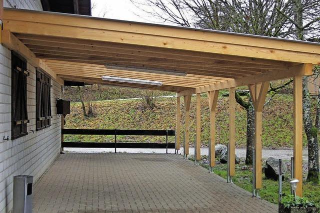 Zum Jubiläum ein Dach für die Terrasse