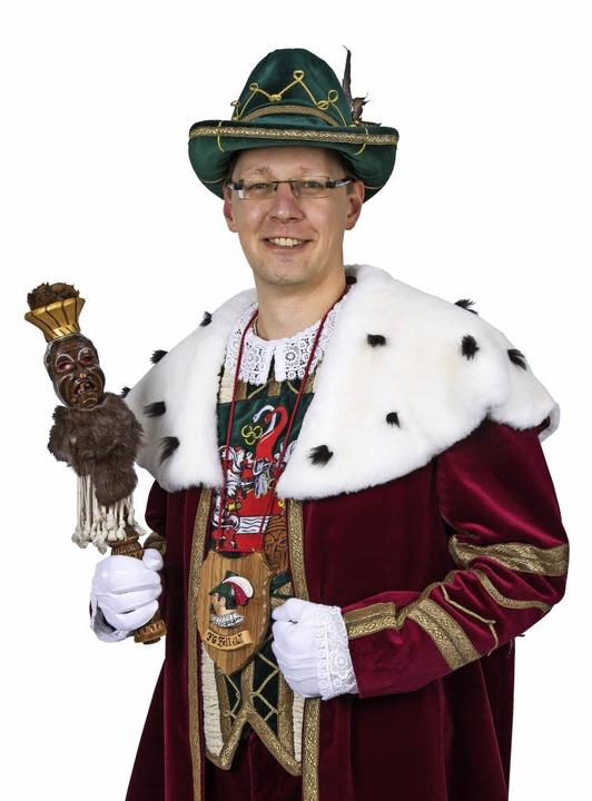 Daniel Greiner regiert als Hürus Danie... Speckzinke die Zeller Fasnacht 2016.   | Foto: Privat