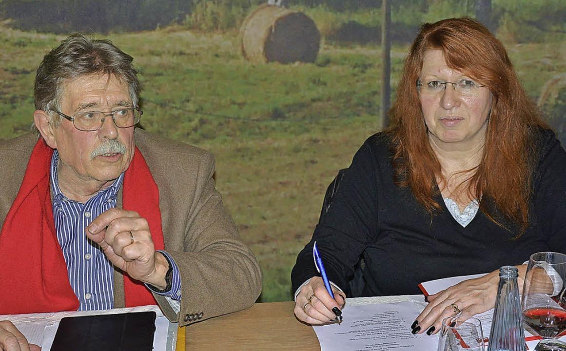 Robert Blum und Marianne Müller führen...sverein mittlerweile seit einem Jahr.   | Foto: Heinz Vollmar