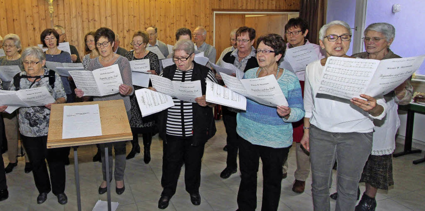 Die Mitglieder des Achkarrer Kirchenchors sangen weihnachtliche Lieder.    Foto: Herbert trogus