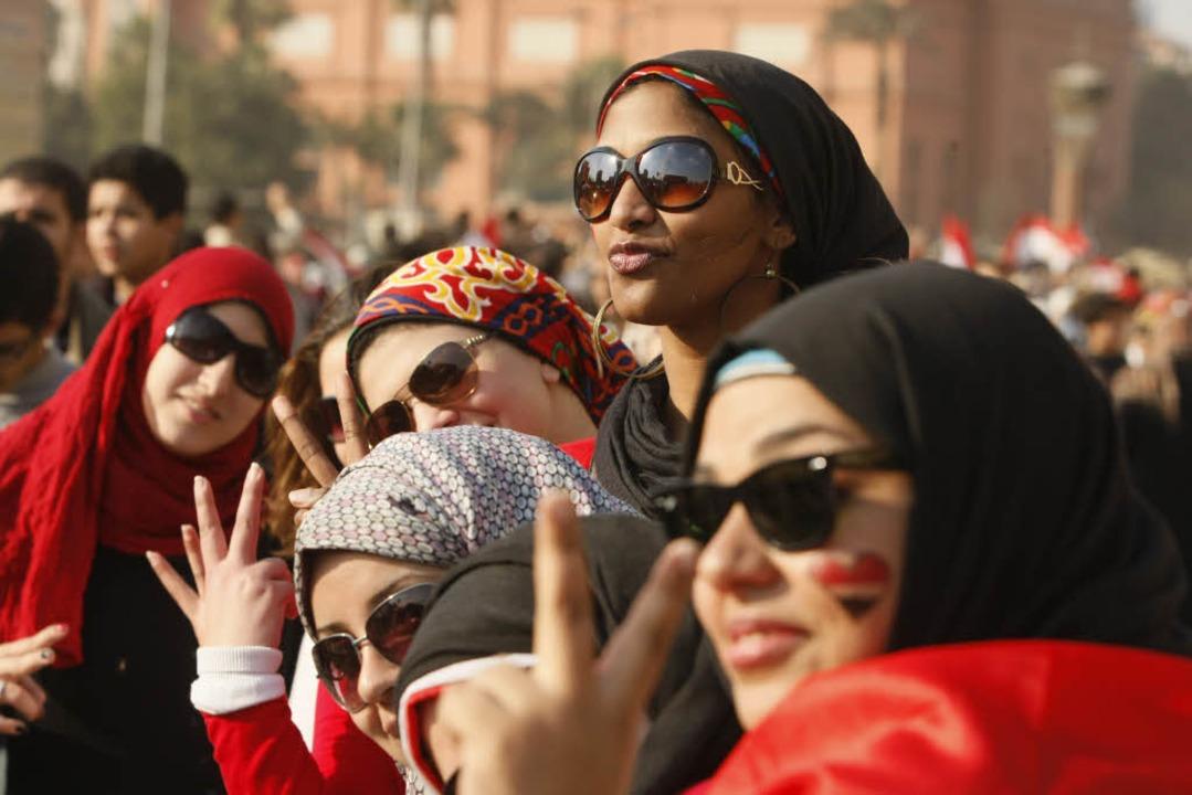 Ägypterinnen demonstrieren 2011  in Ka...auch häufig zu Übergriffen auf Frauen.    Foto: AFP