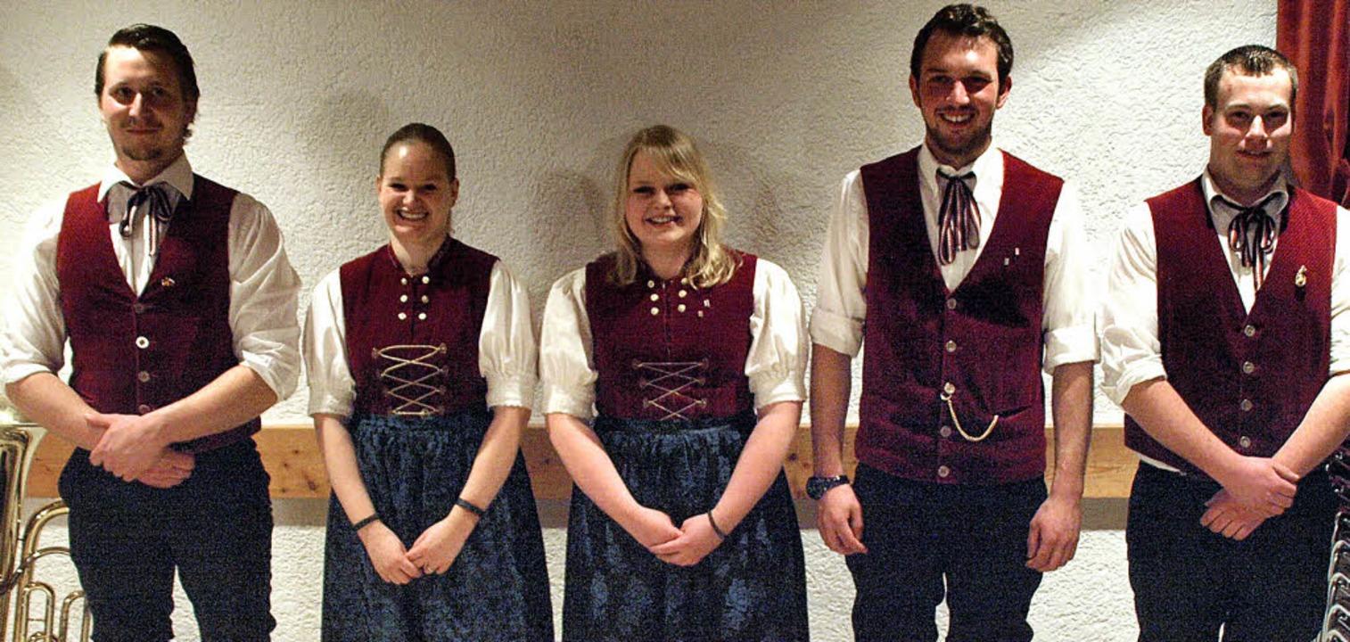 Beim Musikverein Urberg in neuen Ämter... Martin Muchenberger und Kevin Büchele  | Foto: Karin Stöckl-Steinebrunner