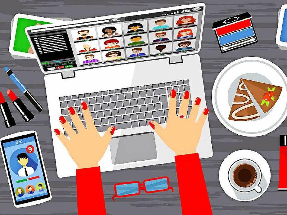 Was ist er wohl für ein Mensch? Um das...ofil im Sozialen Netzwerk angeschaut.   | Foto: Colourbox